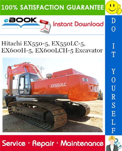 Thumbnail ☆☆ Best ☆☆ Hitachi EX550-5, EX550LC-5, EX600H-5, EX600LCH-5 Excavator Service Repair Manual