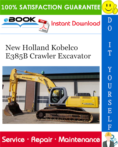 Thumbnail ☆☆ Best ☆☆ New Holland Kobelco E385B Crawler Excavator Service Repair Manual