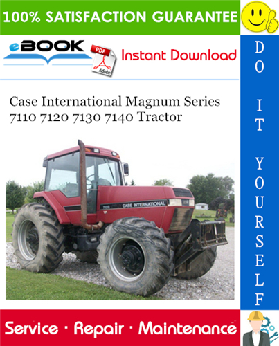 Thumbnail ☆☆ Best ☆☆ Case International Magnum Series 7110 7120 7130 7140 Tractor Service Repair Manual