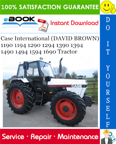 Thumbnail ☆☆ Best ☆☆ Case International (DAVID BROWN) 1190 1194 1290 1294 1390 1394 1490 1494 1594 1690 Tractor Service Repair Manual