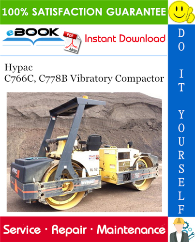 Thumbnail ☆☆ Best ☆☆ Hypac C766C, C778B Vibratory Compactor Service Repair Manual + Operation & Maintenance Manual + Parts Manual