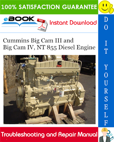 Thumbnail ☆☆ Best ☆☆ Cummins Big Cam III and Big Cam IV, NT 855 Diesel Engine Troubleshooting and Repair Manual