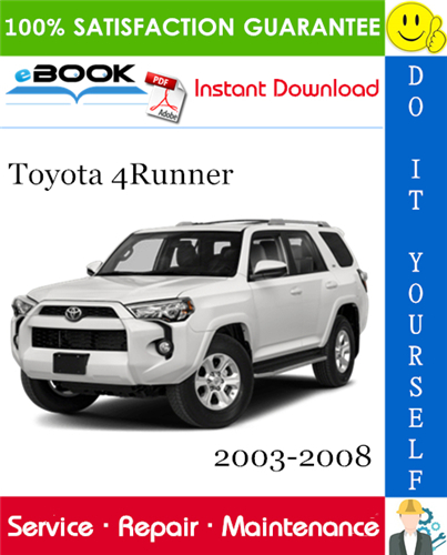 Thumbnail ☆☆ Best ☆☆ Toyota 4Runner Service Repair Manual 2003-2008 Download