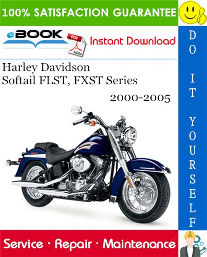 Thumbnail ☆☆ Best ☆☆ Harley Davidson Softail FLST, FXST Series Motorcycle Service Repair Manual 2000-2005 Download