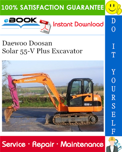 Thumbnail ☆☆ Best ☆☆ Daewoo Doosan Solar 55-V Plus Excavator Service Repair Manual
