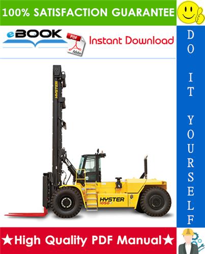 Thumbnail ☆☆ Best ☆☆ Hyster H800HDS, H900HD, H900HDS, H970HD, H970HDS, H1050HD, H1050HDS (B917) High-Capacity Forklift Trucks Parts Manual