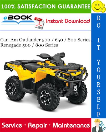 Thumbnail ☆☆ Best ☆☆ 2009 Can-Am Outlander 500 / 650 / 800 Series, Renegade 500 / 800 Series ATV Service Repair Manual