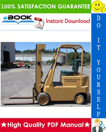 Thumbnail ☆☆ Best ☆☆ Hyster Spacesaver S30C, S40C, S50C (C002) Forklift Trucks Parts Manual