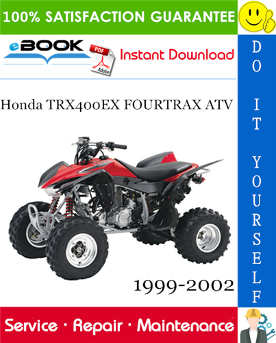 Thumbnail ☆☆ Best ☆☆ Honda TRX400EX FOURTRAX ATV Service Repair Manual 1999-2002 Download
