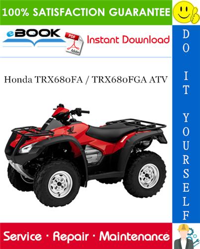 Thumbnail ☆☆ Best ☆☆ 2006 Honda TRX680FA / TRX680FGA ATV Service Repair Manual
