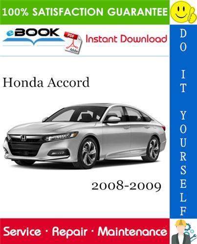 Thumbnail ☆☆ Best ☆☆ Honda Accord Service Repair Manual 2008-2009 Download