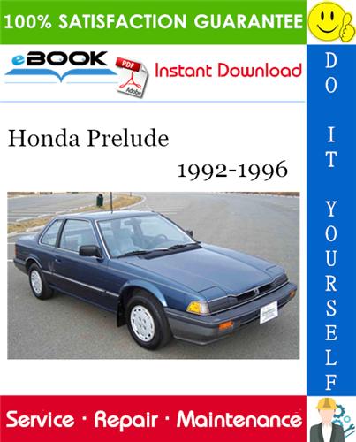 Thumbnail ☆☆ Best ☆☆ Honda Prelude Service Repair Manual 1992-1996 Download