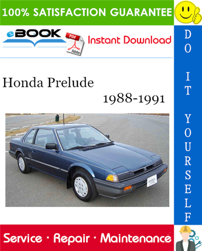 Thumbnail ☆☆ Best ☆☆ Honda Prelude Service Repair Manual 1988-1991 Download