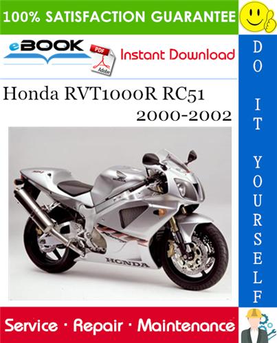 Thumbnail ☆☆ Best ☆☆ Honda RVT1000R RC51 Motorcycle Service Repair Manual 2000-2002 Download