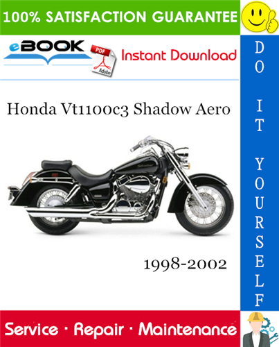 Thumbnail ☆☆ Best ☆☆ Honda Vt1100c3 Shadow Aero Motorcycle Service Repair Manual 1998-2002 Download