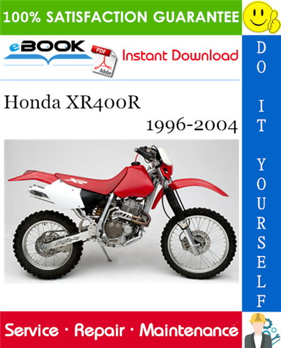 Thumbnail ☆☆ Best ☆☆ Honda XR400R Motorcycle Service Repair Manual 1996-2004 Download