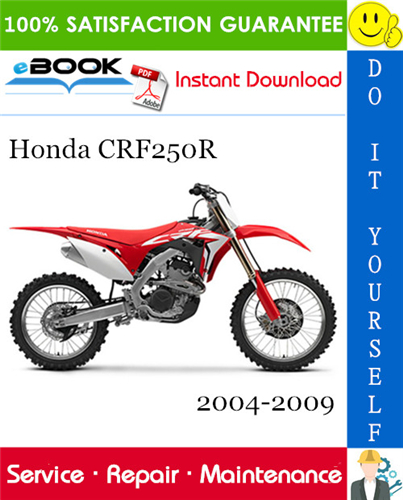 Thumbnail ☆☆ Best ☆☆ Honda CRF250R Motorcycle Service Repair Manual 2004-2009 Download