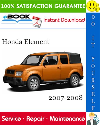 Thumbnail ☆☆ Best ☆☆ Honda Element Service Repair Manual 2007-2008 Download