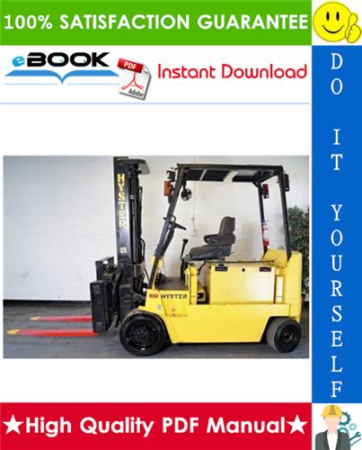 Thumbnail ☆☆ Best ☆☆ Hyster E100XL3, E100XL3S, E120XL3, E70XL3, E80XL3 (C098) Electric Forklift Trucks Parts Manual