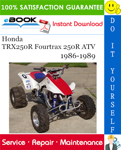 Thumbnail ☆☆ Best ☆☆ Honda TRX250R Fourtrax 250R ATV Service Repair Manual 1986-1989 Download