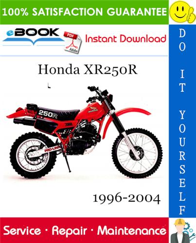 Thumbnail ☆☆ Best ☆☆ Honda XR250R Motorcycle Service Repair Manual 1996-2004 Download
