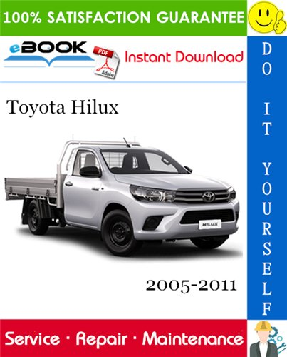 Thumbnail ☆☆ Best ☆☆ Toyota Hilux Service Repair Manual 2005-2011 Download