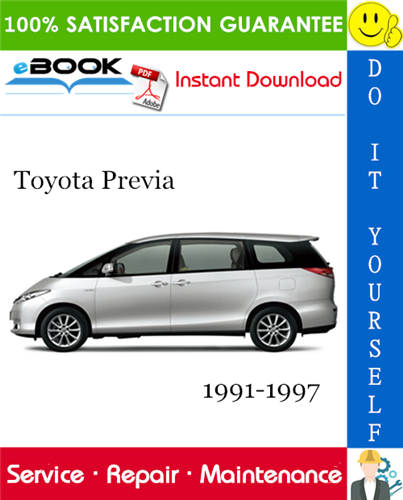 Thumbnail ☆☆ Best ☆☆ Toyota Previa Service Repair Manual 1991-1997 Download