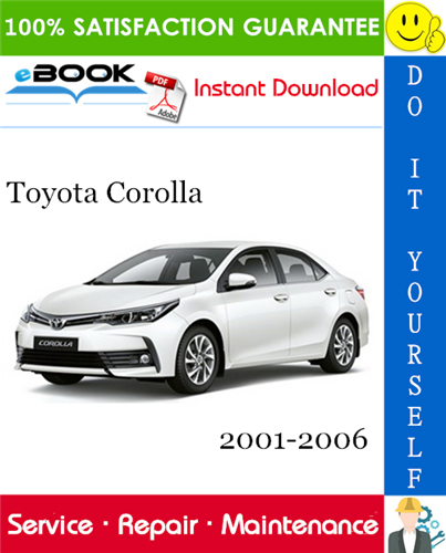 Thumbnail ☆☆ Best ☆☆ Toyota Corolla Service Repair Manual 2001-2006 Download