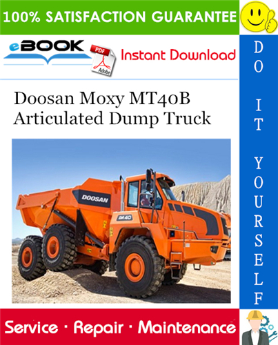 Thumbnail ☆☆ Best ☆☆ Doosan Moxy MT40B Articulated Dump Truck Service Repair Manual