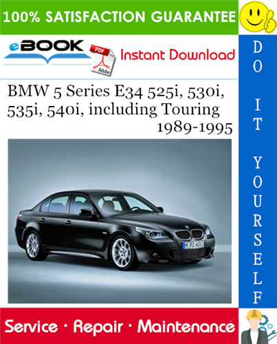 Thumbnail ☆☆ Best ☆☆ BMW 5 Series E34 525i, 530i, 535i, 540i, including Touring Service Repair Manual 1989-1995 Download