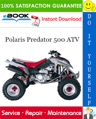 Thumbnail ☆☆ Best ☆☆ 2003 Polaris Predator 500 ATV Service Repair Manual