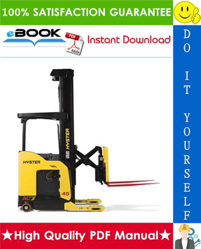 Thumbnail ☆☆ Best ☆☆ Hyster N45ZR, N35ZDR (C264) Reach Truck Forklift Parts Manual