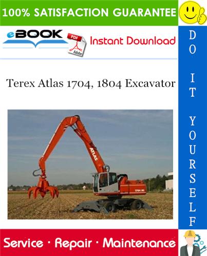 Thumbnail ☆☆ Best ☆☆ Terex Atlas 1704, 1804 Excavator Service Repair Manual