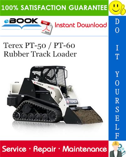 Thumbnail ☆☆ Best ☆☆ Terex PT-50 / PT-60 Rubber Track Loader Service Repair Manual