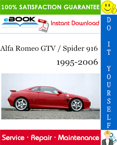 Thumbnail ☆☆ Best ☆☆ Alfa Romeo GTV / Spider 916 Service Repair Manual 1995-2006 Download