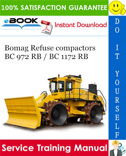 Thumbnail ☆☆ Best ☆☆ Bomag Refuse compactors BC 972 RB / BC 1172 RB Service Training Manual