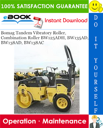 Thumbnail ☆☆ Best ☆☆ Bomag Tandem Vibratory Roller, Combination Roller BW125ADH, BW135AD, BW138AD, BW138AC Operation & Maintenance Manual