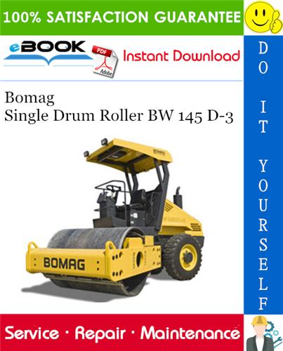 Thumbnail ☆☆ Best ☆☆ Bomag Single Drum Roller BW 145 D-3 Service Repair Manual