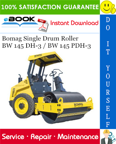 Thumbnail ☆☆ Best ☆☆ Bomag Single Drum Roller BW 145 DH-3 / BW 145 PDH-3 Service Repair Manual