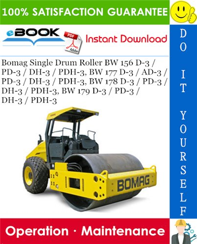 Thumbnail ☆☆ Best ☆☆ Bomag Single Drum Roller BW 156 D-3 / PD-3 / DH-3 / PDH-3, BW 177 D-3 / AD-3 / PD-3 / DH-3 / PDH-3, BW 178 D-3 / PD-3 / DH-3 / PDH-3, BW 179 D-3 / PD-3 / DH-3 /