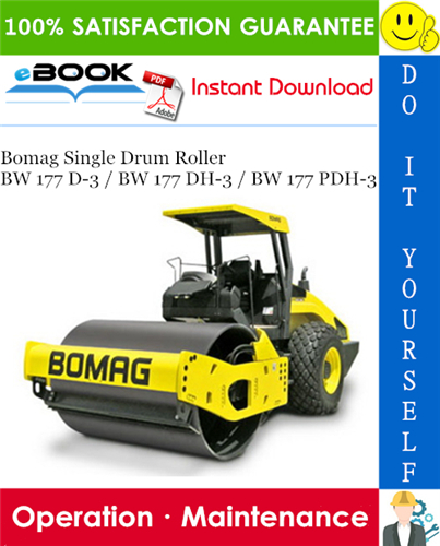 Thumbnail ☆☆ Best ☆☆ Bomag Single Drum Roller BW 177 D-3 / BW 177 DH-3 / BW 177 PDH-3 Operation & Maintenance Manual