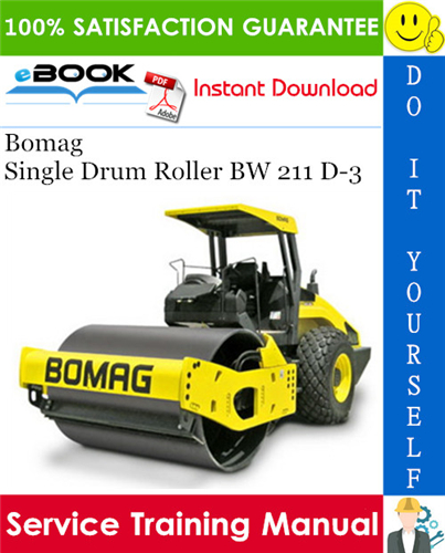 Thumbnail ☆☆ Best ☆☆ Bomag Single Drum Roller BW 211 D-3 Service Training Manual