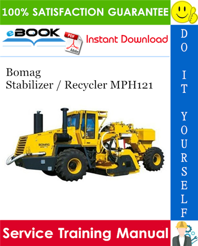 Thumbnail ☆☆ Best ☆☆ Bomag Stabilizer / Recycler MPH121 Service Training Manual