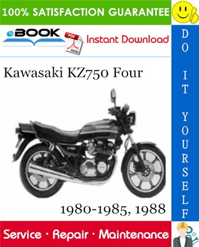 Thumbnail ☆☆ Best ☆☆ Kawasaki KZ750 Four Motorcycle Service Repair Manual 1980-1985, 1988 Download