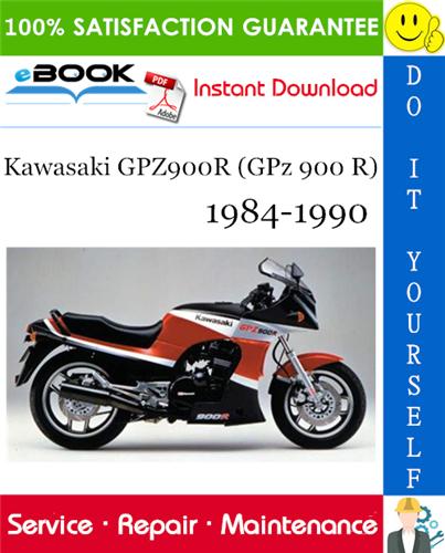 Thumbnail ☆☆ Best ☆☆ Kawasaki GPZ900R (GPz 900 R) Motorcycle Service Repair Manual 1984-1990 Download