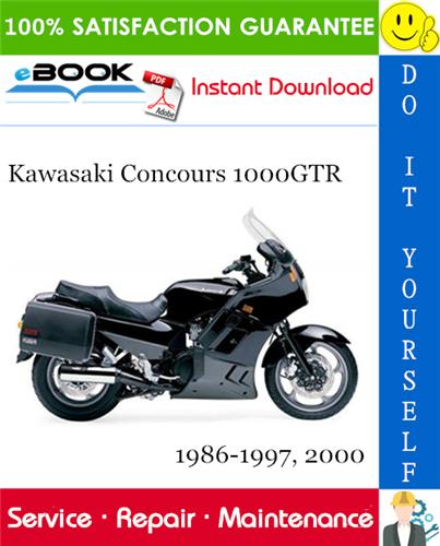 Thumbnail ☆☆ Best ☆☆ Kawasaki Concours 1000GTR Motorcycle Service Repair Manual 1986-1997, 2000 Download