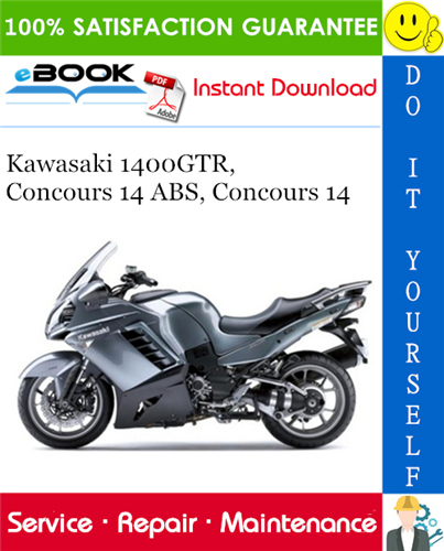 Thumbnail ☆☆ Best ☆☆ 2008 Kawasaki 1400GTR, Concours 14 ABS, Concours 14 Motorcycle Service Repair Manual