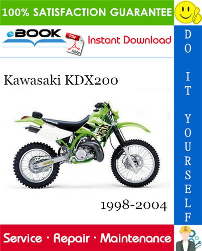 Thumbnail ☆☆ Best ☆☆ Kawasaki KDX200 Motorcycle Service Repair Manual 1998-2004 Download
