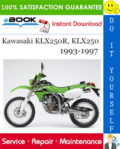 Thumbnail ☆☆ Best ☆☆ Kawasaki KLX250R, KLX250 Motorcycle Service Repair Manual 1993-1997 Download