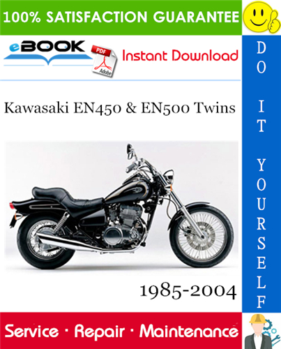 Thumbnail ☆☆ Best ☆☆ Kawasaki EN450 & EN500 Twins Motorcycle Service Repair Manual 1985-2004 Download
